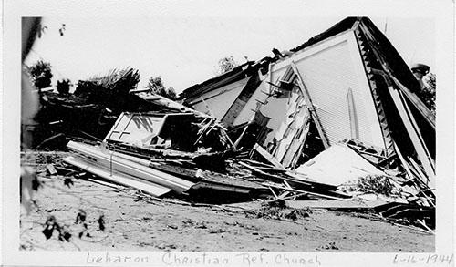 Church after 1944 tornado struck